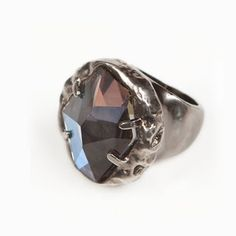 Lava Ring Gunmetal now featured on Fab.