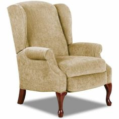 Virginia III High-Leg Reclining Wing Chair found at Wingback Chair, Armchair, Cool Chairs, Indoor Outdoor Rugs, Chair Design, Living Room Furniture, New Homes, Recliners, Wing Chair