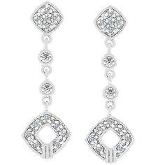 Kate Bissett Gold 'Shimmer Drops' Cubic Zirconia Earrings, Women's