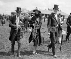 "Derby Day at Epsom Racecourse (1928) Colonel Jacques Balsan, Mme Balsan (Consuelo Vanderbilt the former Duchess of Marlborough) and her son John ""Bertie"" Spencer-Churchill, then the Marquess of Blandford and later the 11th Duke of Marlborough."