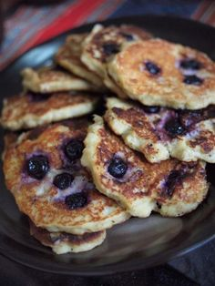 The easiest paleo blueberry banana pancake recipe ever