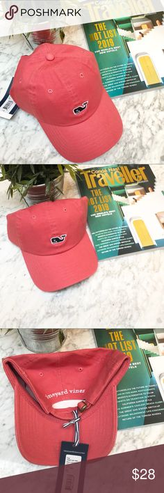 44cadbc8016 Vineyard Vines Logo Whale Hat In Jetty Red Top off your style with a  comfortably versatile
