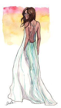 Nice illustration of Chloe dress