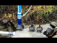 How to Make Water Pump Free Energy - Large Size (Ram Pump) using a 3 inch PVC pipe with two valves. height: 72 m from ground level input pipe length: 120 met. Ram Pump, Hydraulic Ram, How To Make Water, Power Generator, Energy Projects, Homemade Tools, Water Systems, Homesteading, Pumps