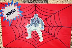 The Party Wall: Spiderman Birthday game - web slinging! #spiderman #party