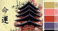 20 Best Color Palette Images Block Prints Japanese Art Color
