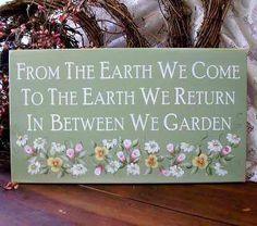 gardening sign