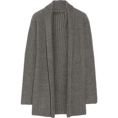 The Elder Statesman Ribbed-knit cashmere cardigan ($2,080) ❤ liked on Polyvore featuring tops, cardigans, dark gray, the elder statesman, cashmere tops, cashmere cardigan, relaxed fit tops and ribbed knit top