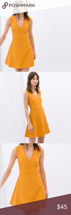 Zara flared dress with bow at back worn only once. A great dress for every occasion  Zara Dresses Mini