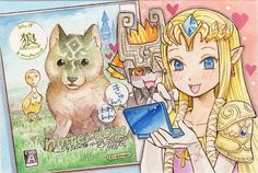 Watercolor by Zerochan. This makes me make the face Midna is making.
