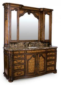 This is so elegant! Trenton Mirror with Medicine Cabinet #mirrors #bathrooms