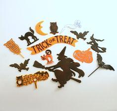 Vintage Halloween Picks Halloween Decoration by efinegifts on Etsy