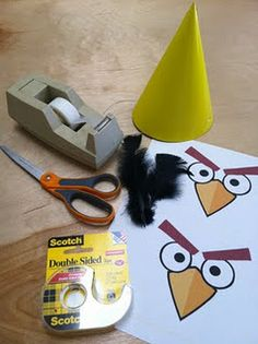 Angry Bird hats are a great project to do before allowing the kids to play the game, this way they can wear the hats as they play. Just make sure to tell the kids not to act like the birds or they may get injured.
