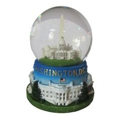 Amazon.com: Famous Building of Washington, D.C. Musical Snow Globe: Furniture & Decor