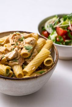 An easy tortiglioni chicken pasta recipe with a rich lemon sauce from chef…