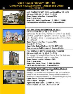 For even more open houses in your area, visit: www.c21nm.com