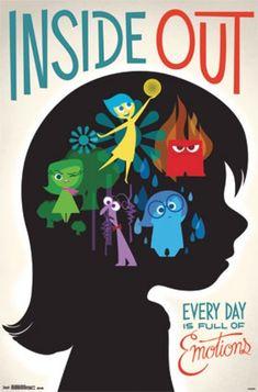 Inside Out Poster - Disney Pixar Disney Pixar, Walt Disney, Disney Amor, Disney And Dreamworks, Disney Love, Disney Magic, Disney Characters, Disney 2015, Punk Disney