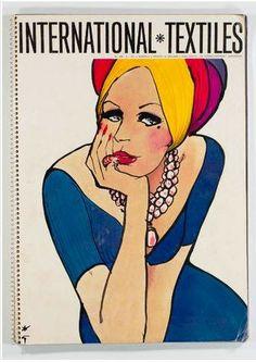 International Textiles 1971 N°478.René GRUAU