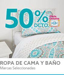 50% TMAS Ropa de Cama y Baño