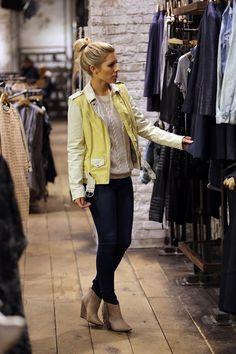 Mollie King Style | Mollie King shops at AllSaints - celebrity fashion (Glamour.com UK)