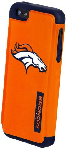 Forever Collectibles AVAILABLE IN ALL TEAMS - Shown - Denver Broncos Rugged Dual Hybrid Apple iPhone 5 & 5S Case