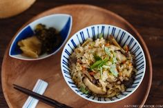 Takikomi Gohan is a Japanese mixed rice recipe made with seasonal ingredients, this comforting dish is perfect to enjoy with simple meals.