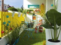 Balcones pequeños bien  decorados #decoración #hogar #deco #home #terrazas #balcones #pequeños