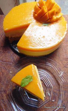 Mango Cheesecake...No bake & Eggless | Pepper, Chilli and Vanilla