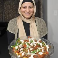 Burani banjan recipe, Afghan recipe for eggplant with tomato and yoghurt sauce