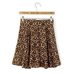 Fashion sexy leopard skirt #SK081801
