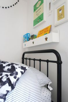 The Twinkle Diaries twin bedroom makeover — monochrome kids bedroom decor Kids Bedroom, Bedroom Decor, Bedroom Ideas, Cloud Shelves, Pine Wardrobe, Monochrome Bedroom, Old Room, Room To Grow, Cot Bedding