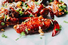 Kung Pao Chicken Wings, by thewoksoflife.com