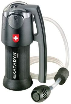 Katadyn Vario Water Filter, Dual Technology Microfilter for Personal or Small Group Camping, Backpacking or Emergency Preparedness : Camping Water Filters : Sports & Outdoors Survival Life Hacks, Survival Prepping, Emergency Preparedness, Survival Gear, Survival Skills, Wilderness Survival, Portable Water Filter, Group Camping, Making Water