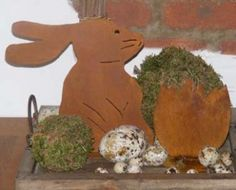 Deko Hase aus rostigem Metall