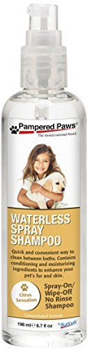 Pampered Paws by Budpak Waterless Spray Shampoo Leave-in Conditioner for Pets, 6.7 Fluid Ounce * undefined