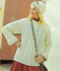 Vintage Aran Style Jacket