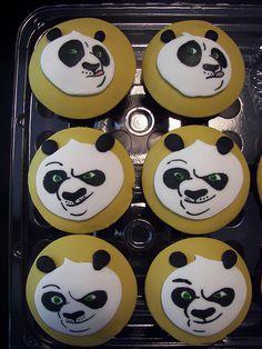 Kung fu panda cupcakes...Marlee would die.