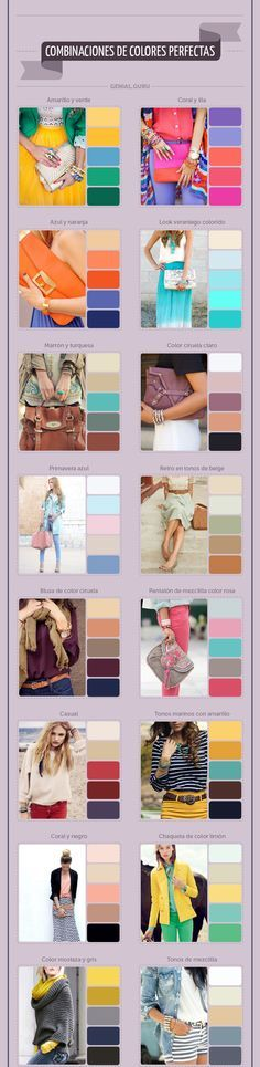 Choosing the right color combination can enhance your look from goid to great.......