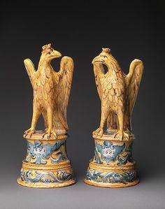 #Maiolica -- Eagles -- 19th Century -- Italian -- The Metropolitan Museum of Art