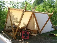 medieval a frame tent - Google Search