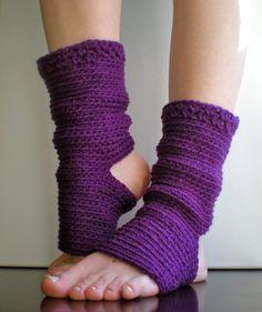PATTERN: Yoga Socks, Dance, Pilates, Ballet, Leg Warmers, easy crochet, pdf, ankle warmers, eggplant purple wine orchid, slouchy, dancer $5.00