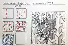 禪繞畫 yego doodles #zentangle #tangle tangle zentangle zendoodle tanglepattern…