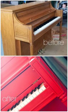 Carissa Miss: Red Piano Makeover