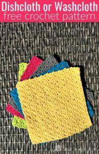 Easy Dishcloth or Washcloth Crochet Pattern