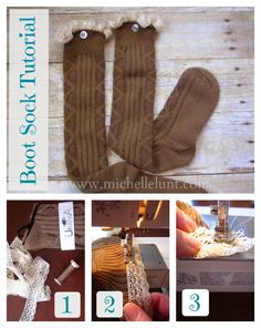 Honey I'm Home: How to Make Boot Socks