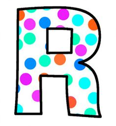 ArtbyJean - Paper Crafts: Alphabet Set - Polka Dots in bright magenta, shocking pink, blue, turquoise, aqua, and orange. Polka Dot Letters, Bubble Letters, Polka Dots, Monogram Alphabet, Alphabet And Numbers, Abc Letra, Alphabet Pictures, Magenta, Pink Blue