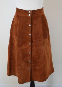 Items similar to Suede Button Up Midi Skirt on Etsy Evening Skirts, Corduroy Skirt, Jackie Kennedy, 1970s, Button Up, Midi Skirt, Elegant, Chic, Trending Outfits