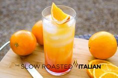Tequila Sunrise Cocktail From theslowroasteditalian.com #recipe #cocktail #tequila