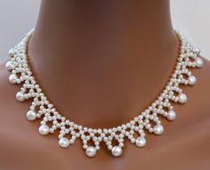 Clearance  On Sale  genuine pearl necklace  by BeautifulPetra, $25.00