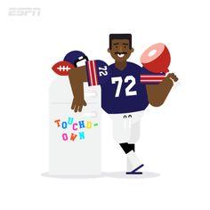 Super Bowl memories fridge